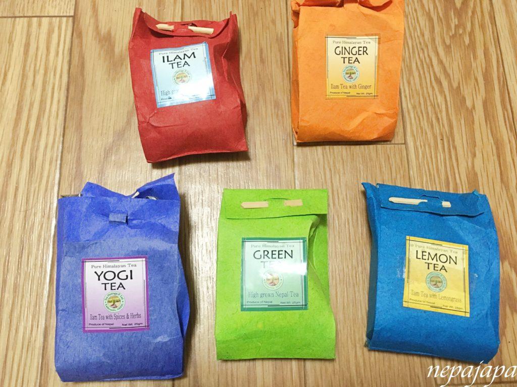 ネパールお土産食べ物編・紅茶の種類